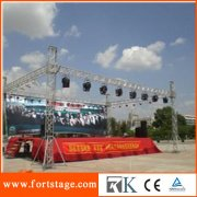 catwalk stage with lighting truss